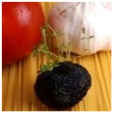 Black Truffle Garlic Olive Oil, 12oz (375ml), bottles.