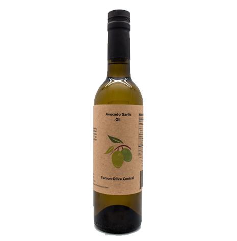 Avocado Garlic Oil, 12oz Bottle.