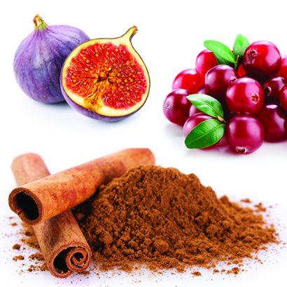 White Cranberry Fig Cinnamon Balsamic Vinegar, 375 ml Bottle.